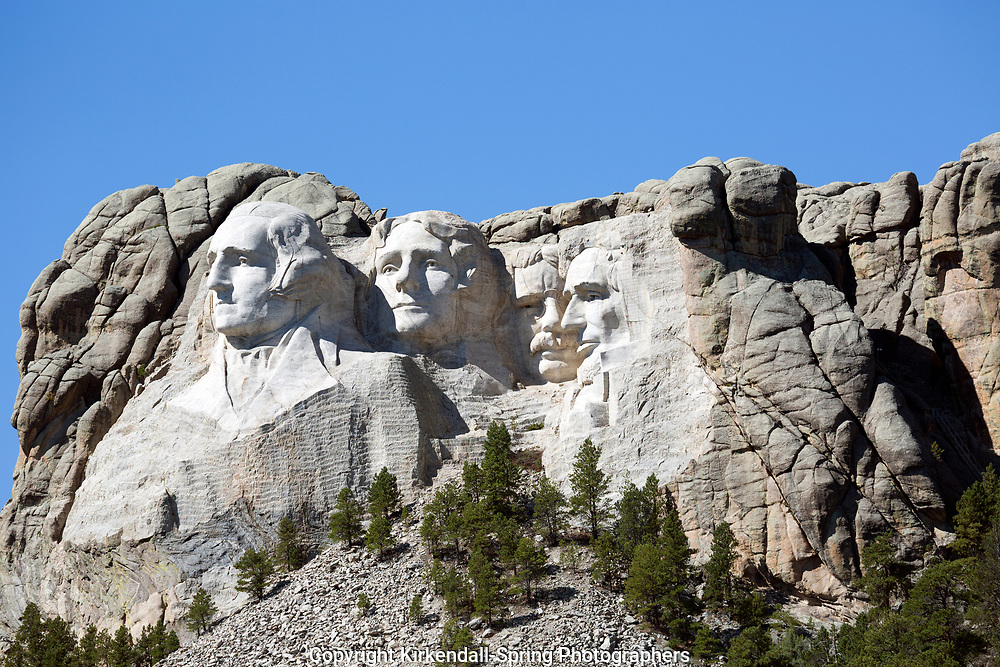 SD00001-00...SOUTH DAKOTA - Presendents George Washington, Thomas Jefferson, Theodore Roosevelt and Abraham Lincon  carved into a mountain side at Mount Rushmore National Memorial.