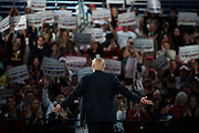 Republican U.S. presidential candidate Donald Trump turns to the crowd behind him during a campaign event in Des Moines, Iowa on Friday, Dec. 11, 2015. Mark Kauzlarich for Bloomberg