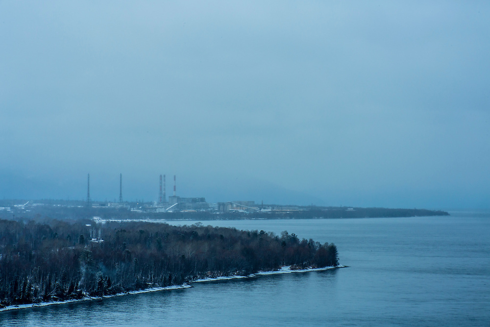 The Baikalsk Pulp and Paper Mill on Saturday, October 26, 2013 in Baikalsk, Russia.