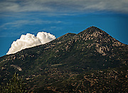 Cloud hiding behind the Mountain in the Wasatch Range, Utah.