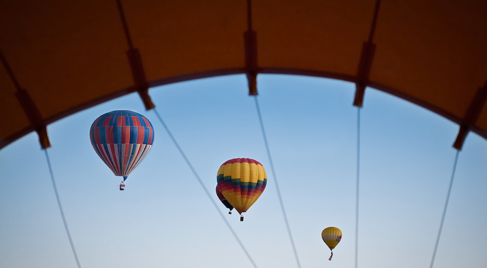 First day and first light of the Abuquerque International Balloon Fiesta