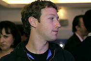 Journée d'information sur la platform Facebook à Londres au Barbican Centre. C'est la première fois que Facebook organise ce genre de journée en Europe. Mark Zuckerberg, américain de 26 ans et créateur de Facebook est présent.