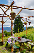 SHOT 5/29/13 3:26:08 PM - A small picnic area outside the tasting room at AniChe Cellars in Underwood, Washington. AniChe Cellars is a small family winery located in Underwood, WA and the beautiful Columbia River Gorge. AniChe's wines are almost entirely varietal blends. The grapes come from Washington state's plethora of renowned AVA's, including our very own Columbia Gorge AVA. (Photo by Marc Piscotty / © 2013)