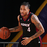 Sioux Falls Skyforce Guard RODNEY MCGRUDER (4) dribbles up the floor in the second half of a NBA D-league regular season basketball game between the Delaware 87ers and the Sioux Falls Skyforce Friday, Mar. 25, 2016, at The Bob Carpenter Sports Convocation Center in Newark, DEL.