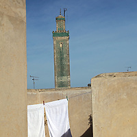 Africa, Morocco, Fes. Rooftop of Najjarin Funduq, or Nejjarin Fundouk, a UNESCO World Heritage Site.