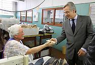 SAO PAULO - 09.08.2012. ANDREA MATARAZZO 45450. O candidato a vereador Andrea Matarazzo visita a fábrica da Darling, localizada na na zona norte da capital. São Paulo, Brasil, agosto 09, 2012. DANIEL GUIMARÃES