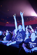 Fans during Evanescence's sold out performance at the Pageant in St. Louis on April 25, 2012.