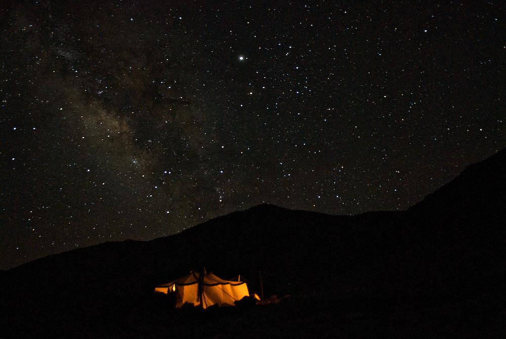 night sky with full stars