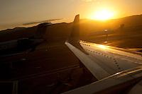 Airplanes taki at Salt Lake International Airport. Photo by Robert Caplin