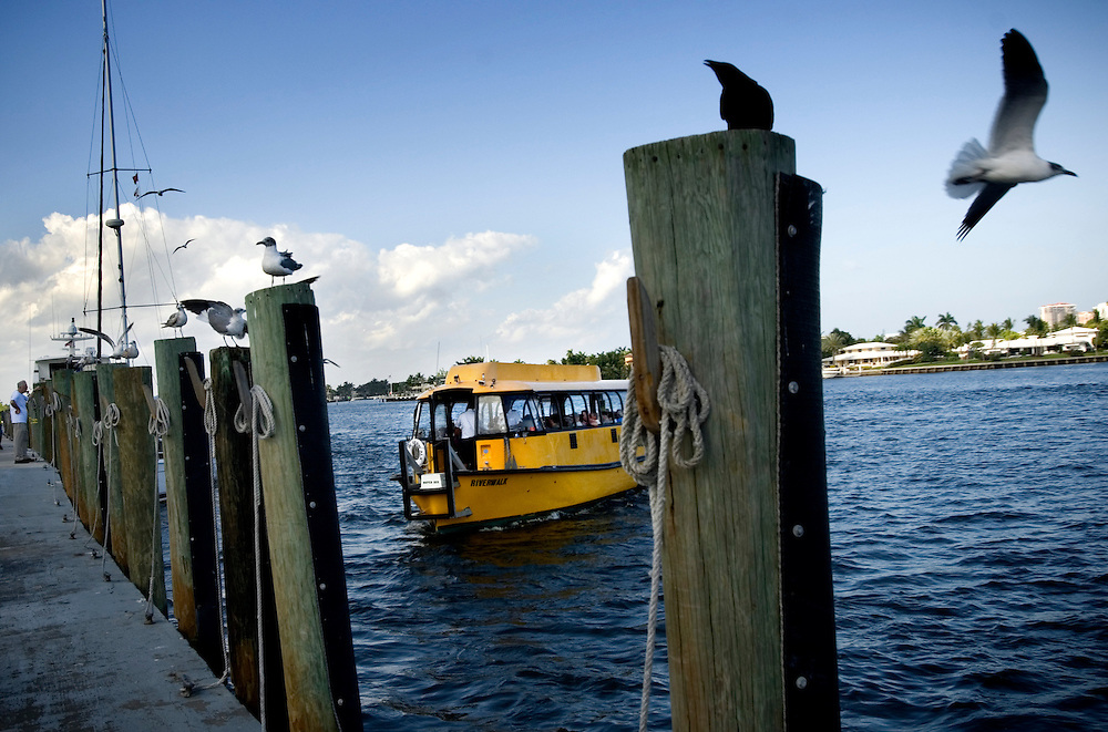 Travel story about Fort Lauderdale, Florida.Water Taxi..Photographer: Chris Maluszynski /MOMENT