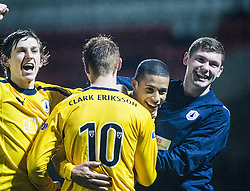 Falkirk's Lyle Taylor celebrates scoring their second goal..Airdrie United 1 v 4 Falkirk, 22/12/2012..©Michael Schofield.