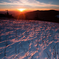 A cold day atop the Roan Highlands is rewarded with a beautiful sunset.