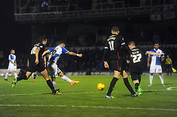 Matt Taylor of Bristol Rovers scores his second goal to make it 2-0 - Mandatory byline: Dougie Allward/JMP - 07966 386802 - 14/11/2015 - FOOTBALL - Memorial Stadium - Bristol, England - Bristol Rovers v Carlisle United - Sky Bet League Two