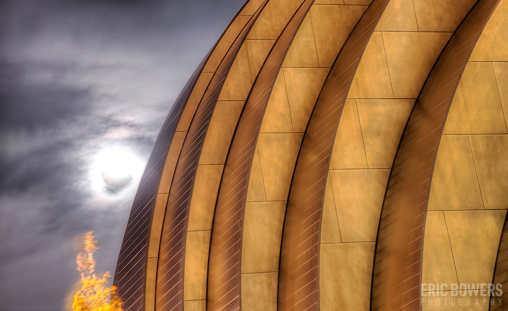Kauffman Center with the moon, Oct. 11, 2011.