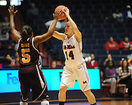 "Ole Miss' Maggie McFerrin (14) vs. Central Michigan at C.M. ""Tad"" Smith Coliseum in Oxford, Miss. on Wednesday, December 14, 2011."