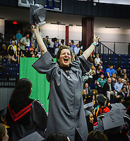 The morning commencement ceremony was held at the Collins Arena at Brookdale Community College in Lincroft, NJ, on Friday, May 16, 2014. /Russ DeSantis Photography and Video, LLC