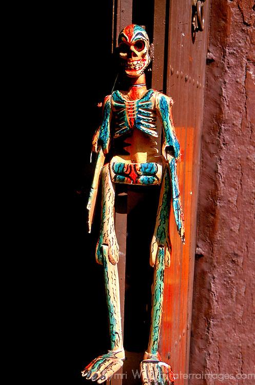 Latin America, Mexico, San Miguel de Allende. Skeleton Welcome.