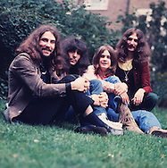 Black Sabbath 1970 Bill Ward, Tony Iommi, Ozzy Osbourne and Geezer Butler.© Chris Walter.