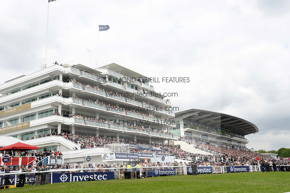 GRANDSTANDS at the Investec Derby 2013 held at Epsom Racecourse, Epsom, Surrey on 1st June 2013.