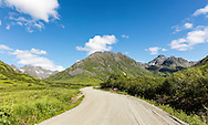 Talkeetna Mountains in Archangel Valley at Hatcher Pass State Recreation Area in Southcentral Alaska. Summer. Morning.