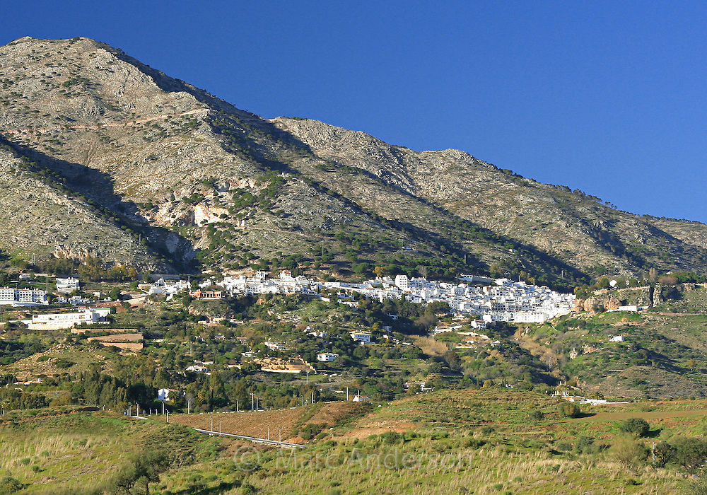 Mijas, a Spanish white village on a mountain in Andalucia, Spain