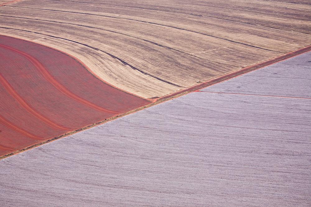 Farmland in the Tangana Da Serra region of Mato Grosso, Brazil, August 9, 2008. Daniel Beltra/Greenpeace