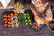 market stalls of Maradona Market, Colombo, Sri Lanka