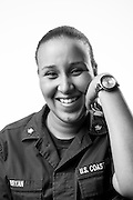 Steffi M. Bryan<br /> Active Duty Coast Guard<br /> E-4<br /> Yeoman Third Class<br /> Aug. 2009 - Present<br /> <br /> Coast Guard base located in Charleston, SC, on Sept. 4, 2013. For the Veterans Portrait Project.