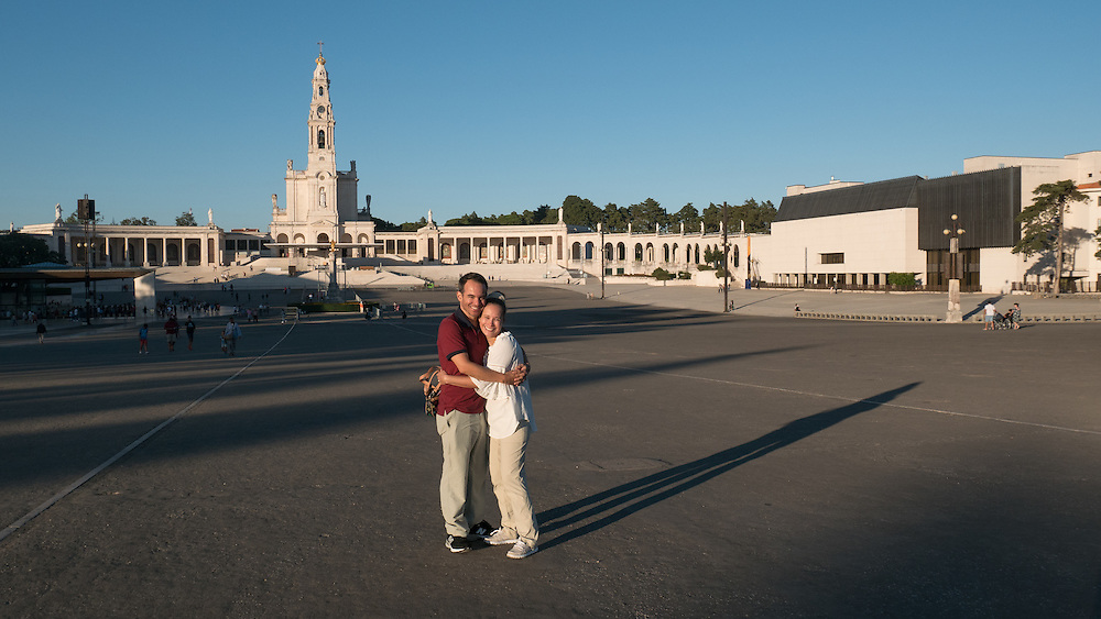 The Sanctuary of Fátima, a Catholic pilgrimage site, marks the spot where the Virgin Mary appeared in 1917.