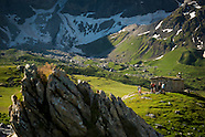 Active camping in the Hautes Pyrenees mountains Southern France