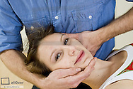 Manual therapy, osteopathy,mobilisation upper cervical spine (model-released)