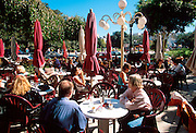 ARGENTINA, BUENOS AIRES, RECOLETA One of the city's most fashionable areas, Avenue Alvear is surrounded with popular cafes