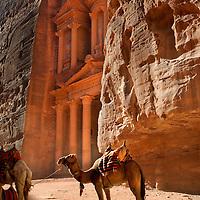 Treasury,The Khazneh Petra Archaeological Site, Petra, Jordan, Middle East