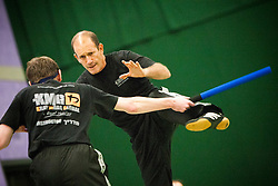 Eyal Yanilov, the Chief Instructor of Krav Maga Global, takes the Krav Maga Global Instructors Further Education & Training - October 2012. .©Michael Schofield.