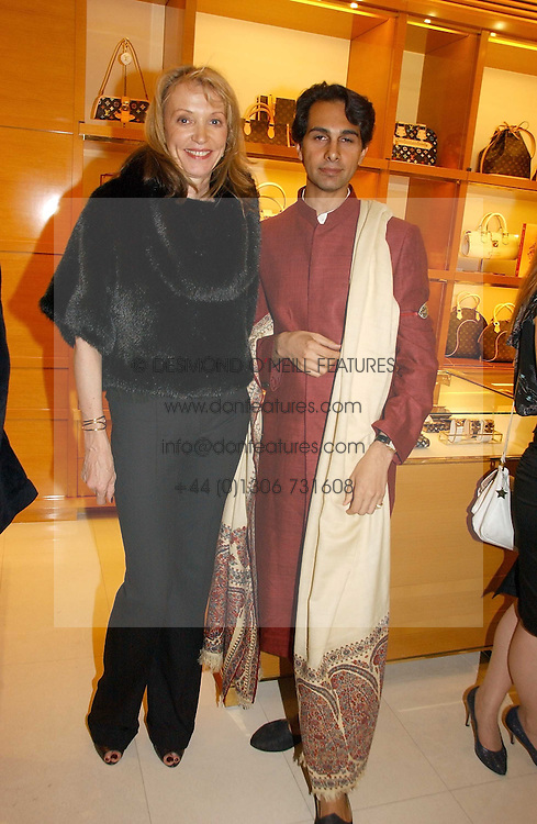 SUSAN WHITLEY and DR AMIN JAFFER at a party to celebrate the publication of 'Made for Maharajas' by Dr Amin Jaffer hosted by Louis Vuitton at their store on Sloane Street, London on 10th October 2006.<br />