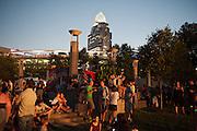 Fans attend Bunbury Music Festival at Sawyer Point/Yeatman's Cove in Cincinnati, Ohio on July 12, 2013.