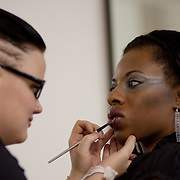 04/20/12 Newark Del. Make-up Artist Raechel Bundy applies make up to model Triscelle Turner face during a dress rehearsal Friday, April. 20, 2012 at The Paul Mitchell school of Delaware Friday, April. 20, 2012 in Newark Del...Special to The News Journal/SAQUAN STIMPSON