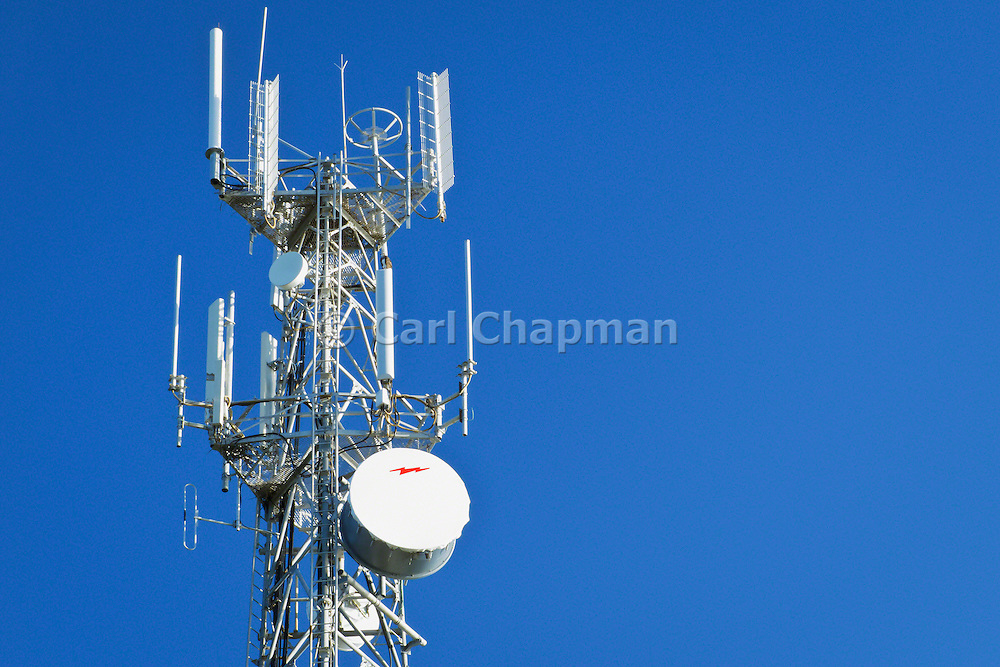 Cellular, microwave and telecom communications antenna array for the mobile telephone system on a cellsite tower .