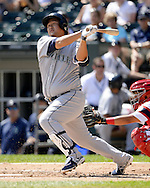 CHICAGO - AUGUST 28:  Dae-Ho Lee #10 of the Seattle Mariners bats against the Chicago White Sox on August  28, 2016 at U.S. Cellular Field in Chicago, Illinois.  The White Sox defeated the Mariners 4-1.  (Photo by Ron Vesely/MLB Photos via Getty Images)  *** Local Caption *** Dae-Ho Lee