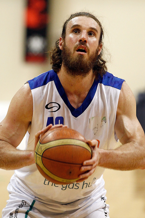 Wellington Saints' forward Casey Frank lines up a free throw against the Hawkes Bay Hawks in the second semi-final of the National Basketball League, TSB Bank Arena, Wellington, New Zealand, Saturday, May 26, 2012. Credit: SNPA/Dean Pemberton.