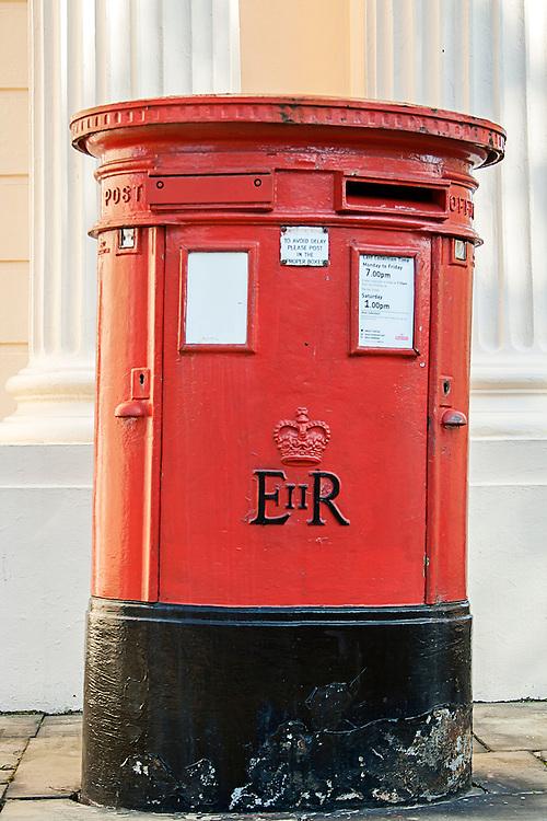 A traditional british post box