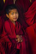 Novice monk in central Bhutan.