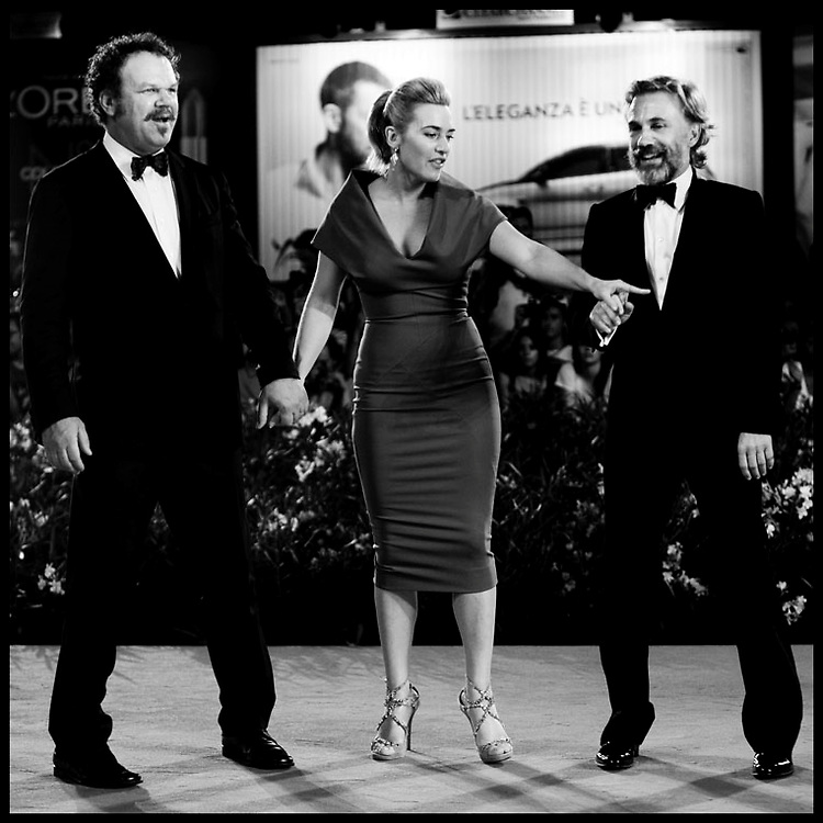"""Kate Winslet, Christoph Waltz and John C. Reilly attendsthe premiere of movie """"Carnage"""" , directed by Roman Polanski, presented in competition at the 68th Venice International Film Festival."""