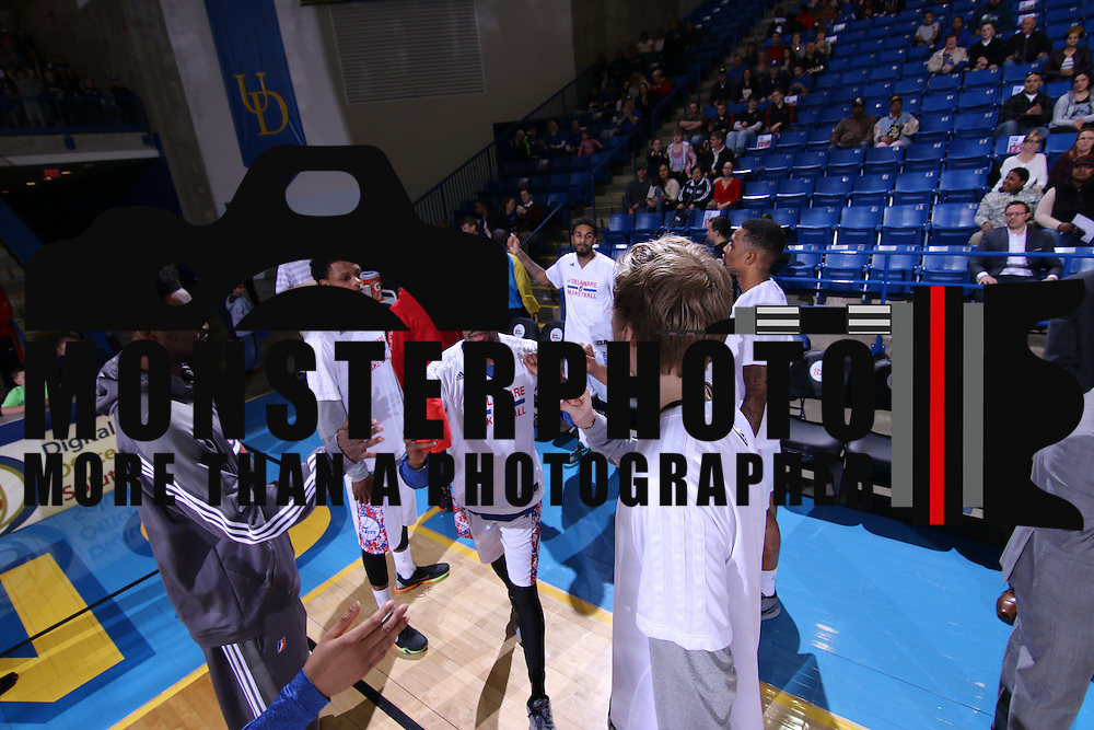 Delaware 87ers Guard Jordan McRae (4) is introduced to the fans prior the start of the start of the first half of a NBA D-league regular season basketball game between the Delaware 87ers and the Erie BayHawk (Orlando Magic) Friday, Mar. 27, 2015 at The Bob Carpenter Sports Convocation Center in Newark, DEL.
