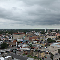 A view of downtown Brownsville, TX on April 21, 2010. Brownsville is a border town with Matamoros, Mexico. The region is a conduit for drugs moving north into the US and drug proceeds and weapons moving south from Texas into Mexico. (Photo/Scott Dalton)