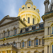 Imposing architecture of the Baltimore City Hall.