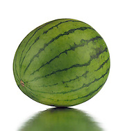A whole minature watermelon