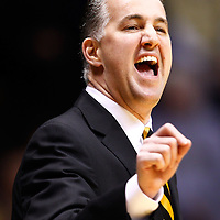 WEST LAFAYETTE, IN - JANUARY 02: Head coach Matt Painter of the Purdue Boilermakers shouts to his team during action against the Illinois Fighting Illini at Mackey Arena on January 2, 2013 in West Lafayette, Indiana. Purdue defeated Illinois 68-61. (Photo by Michael Hickey/Getty Images) *** Local Caption *** Matt Painter