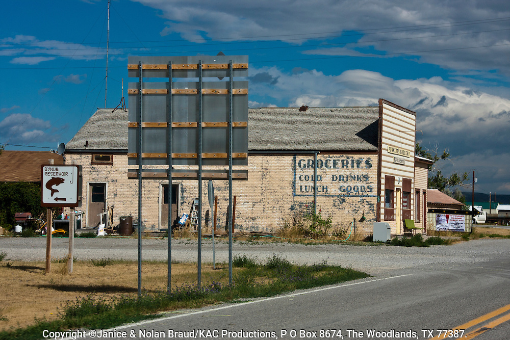 Rural village on scenic drive in rural Montana.