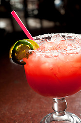 Merry Piglets' Big Pig Strawberry-Jalapeño Margarita.